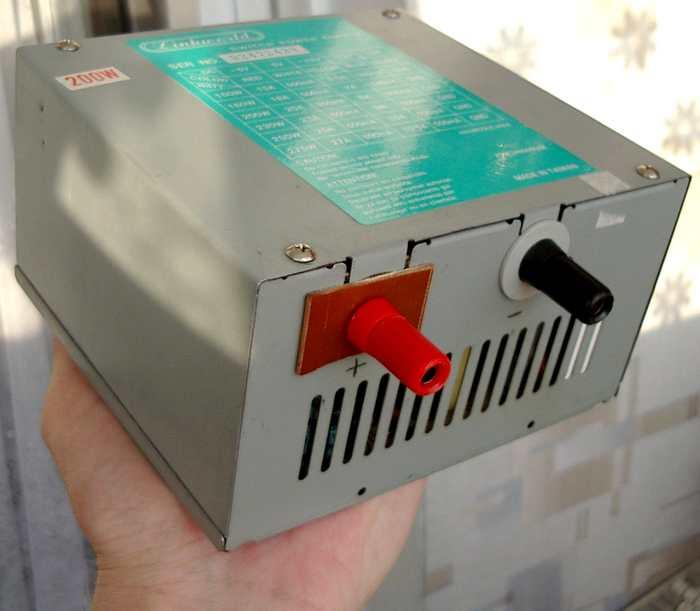 Переделка компьютерного блока питания мощностью 200Вт.